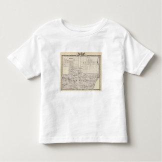 Mapa da parte austero e ocidental de condados de t-shirt