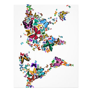 Mapa das borboletas do mundo flyer 21.59 x 27.94cm
