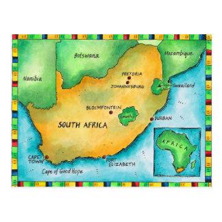 Mapa de África do Sul Cartão Postal