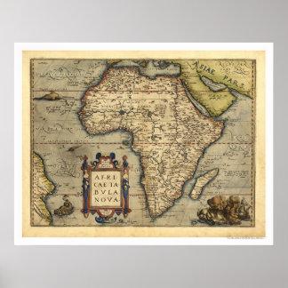 Mapa de África por Ortelius 1570 Poster
