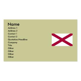 Mapa de Alabama e bandeira do estado Cartão De Visita