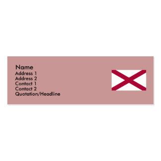 Mapa de Alabama e bandeira do estado Cartão De Visita Skinny
