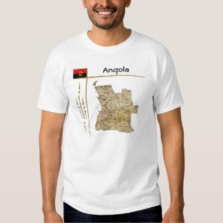 Mapa de Angola + Bandeira + T-shirt do título