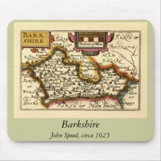 """Mapa de """"Barkshire"""" Berkshire County, Inglaterra Mouse Pad"""