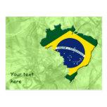 Mapa de Brasil Cartões Postais