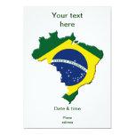 Mapa de Brasil Convite 12.7 X 17.78cm