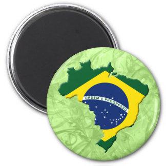 Mapa de Brasil Ímã Redondo 5.08cm