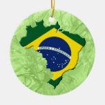 Mapa de Brasil Ornamento