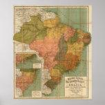 Mapa de Brasil Posteres