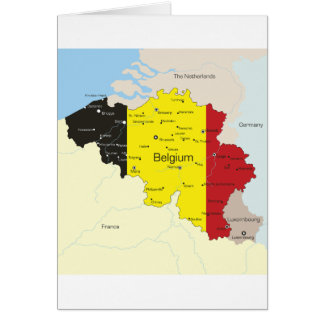 Mapa de cartões de Bélgica