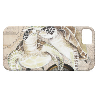Mapa de compasso das tartarugas de mar capa para iPhone 5