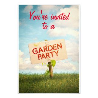 Mapa de convite um Garden Party