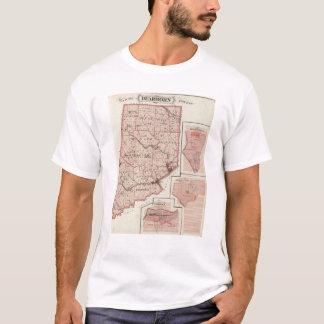 Mapa de Dearborn County com Greendale Camiseta