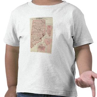 Mapa de Dearborn County com Greendale Tshirt