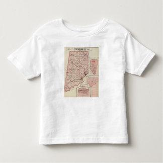 Mapa de Dearborn County com Greendale Camiseta Infantil