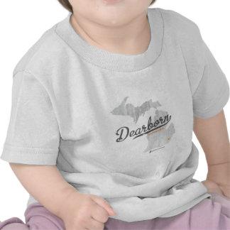Mapa de Dearborn Michigan T-shirts