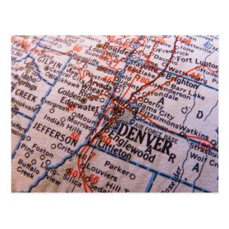 Mapa de Denver Cartão Postal