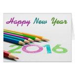 Mapa de desejos desenho - de novo ano 2016 cartão comemorativo