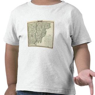 Mapa de Edwards condados e Albion de Wabash T-shirt