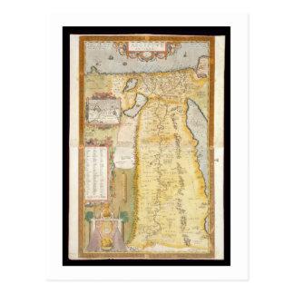 Mapa de Egipto antigo 1584 Cartão Postal