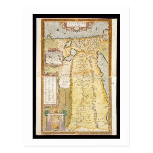 Mapa de Egipto antigo, 1584 Cartão Postal
