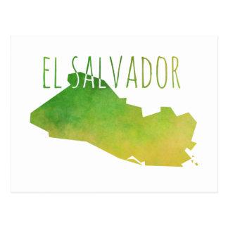 Mapa de El Salvador Cartão Postal