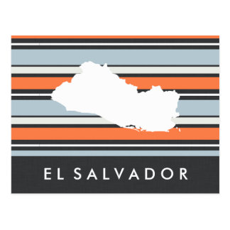 Mapa de El Salvador: Listras modernas Cartão Postal