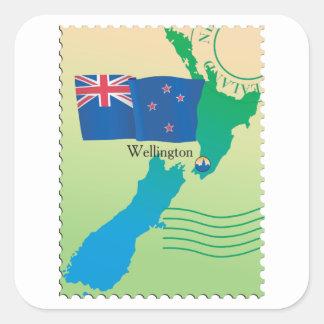 Mapa de etiquetas de Nova Zelândia
