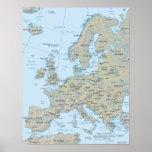 Mapa de Europa Posteres