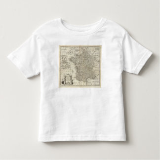 Mapa de France 2 Camisetas
