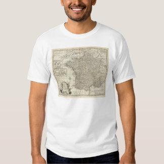 Mapa de France 2 Tshirts