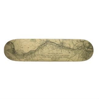 Mapa de Great Falls Parque (1928) Shape De Skate 20cm