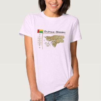 Mapa de Guiné-Bissau + Bandeira + T-shirt do