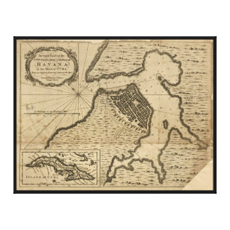 Mapa de Havana, Cuba (1762)