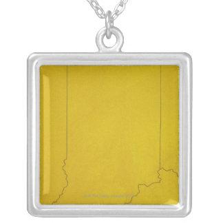 Mapa de Indiana Colares Personalizados
