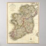 Mapa de Ireland Posters