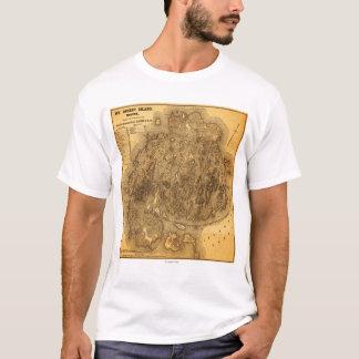 Mapa de IslandPanoramic do deserto da montagem Camiseta