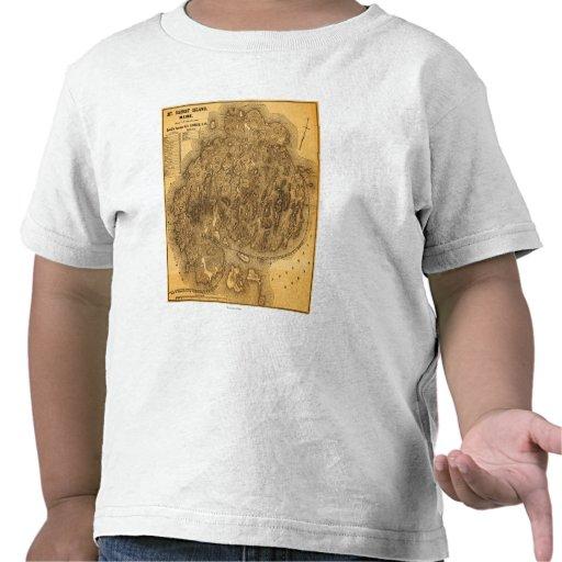 Mapa de IslandPanoramic do deserto da montagem T-shirt