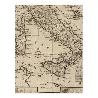Mapa de Italia Cartão Postal