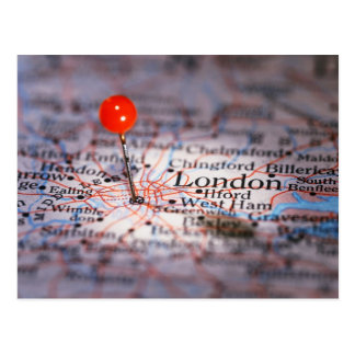 Mapa de LONDRES Cartão Postal