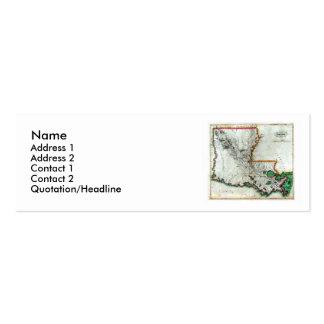 Mapa de Louisiana e bandeira do estado Cartão De Visita Skinny