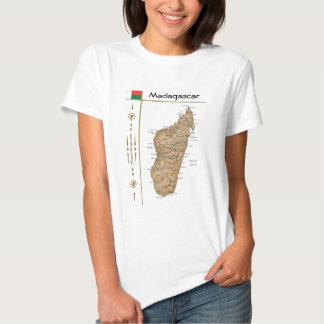 Mapa de Madagascar + Bandeira + T-shirt do título