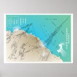 Mapa de mineração submarino Cornish Posteres