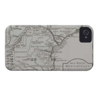 Mapa de Mozambique, África Capa Para iPhone 4 Case-Mate