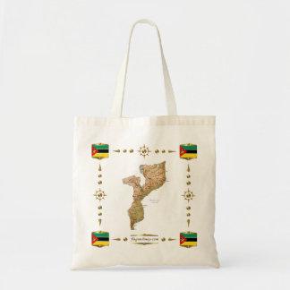 Mapa de Mozambique + Saco das bandeiras Bolsa Tote