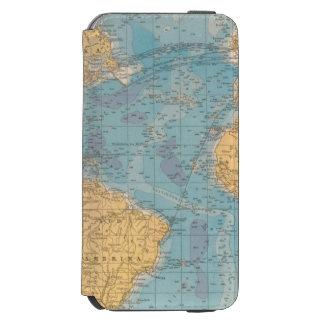 Mapa de Oceano Atlântico Capa Carteira Incipio Watson™ Para iPhone 6