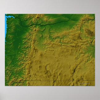 Mapa de Oregon Pôster