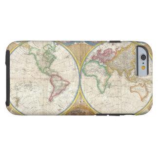 Mapa de parede de Samuel Dunn do mundo nos Capa Tough Para iPhone 6