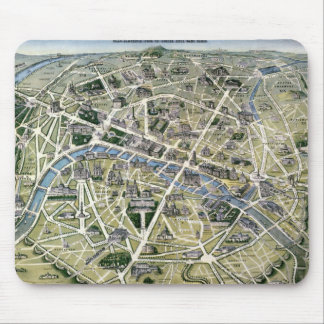 Mapa de Paris durante 'os Grands Travaux Mouse Pad