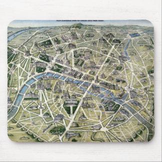 Mapa de Paris durante 'os Grands Travaux Mouse Pad